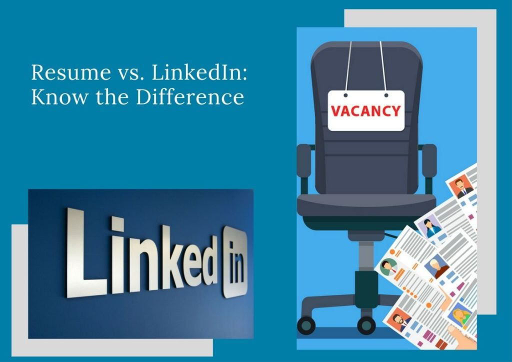 resume vs  linkedin  know the difference