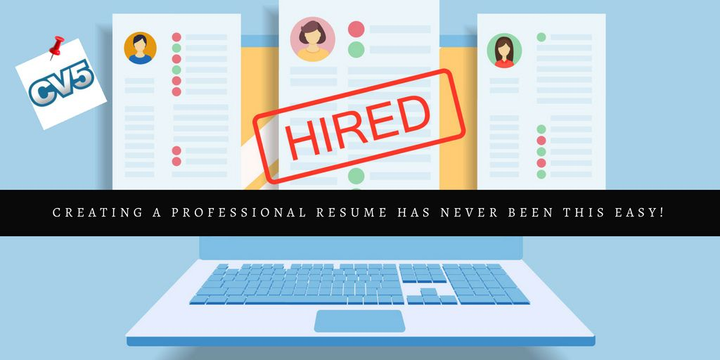 Creating A Professional Resume Has Never Been This Easy!